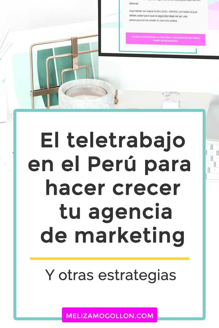 El teletrabajo en el Perú